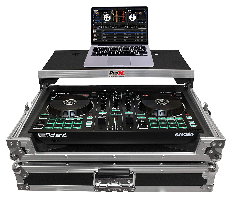 ProX X-DJ202LT Flight Case For Roland DJ202 Controller w/Sliding Laptop Shelf PRO X CASES