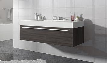 Badezimmer Badmöbel Garcia 120 Cm Eiche Dunkel Unterschrank