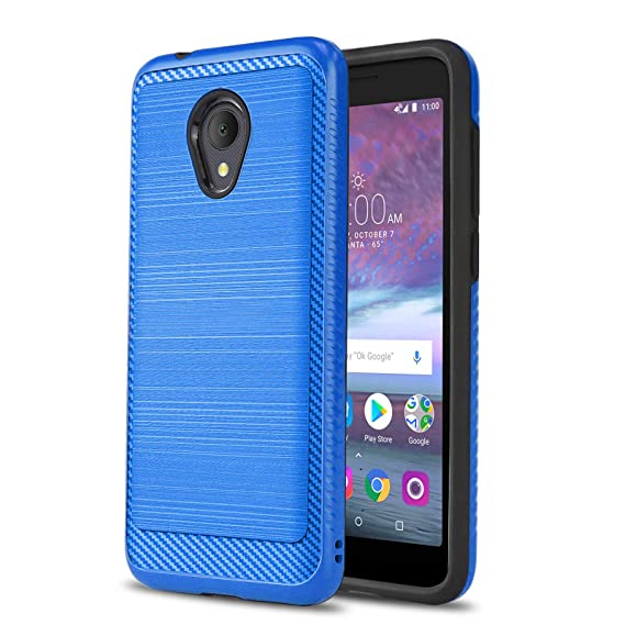 Phone Case for [ALCATEL TCL LX (A502DL)], [Modern Series][Blue] Shockproof  Cover [Defender] for Alcatel TCL LX (Tracfone, Simple Mobile, Straight