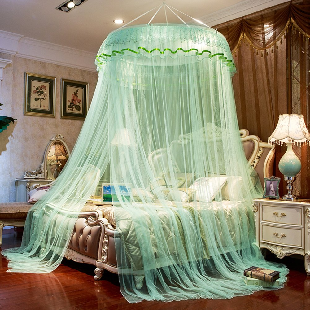 Dome suspended ceiling gauze mosquito net, Double Residential Landing Court bed canopy-T Queen1