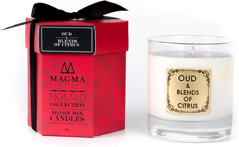 Magma Londres – Oud & Mezcla De Cítricos – gran lujo Vela aromática – Deluxe Box Set de regalo: Amazon.es: Hogar
