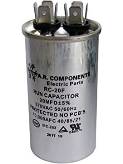 RUN CAPACITOR 80 MFD 370 VAC ROUND CAN UL Certified RC-80F