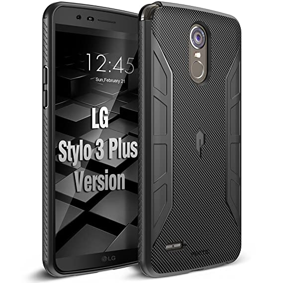 half off e1387 27f5f Poetic Karbon Shield Slim Fit LG Stylo 3 Plus/LG Stylo 3 Case Cover with  Anti-Slip Side Grip and Carbon Fiber Texture for LG Stylo 3 Plus/LG Stylo 3  ...