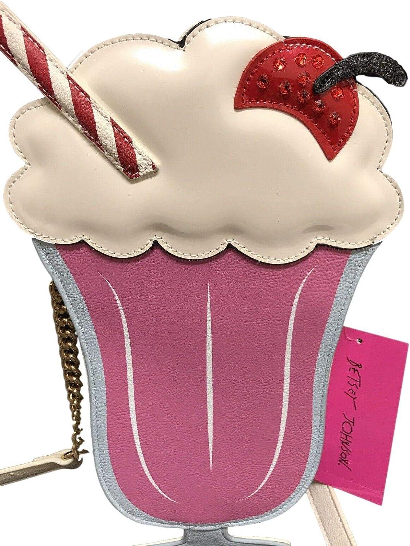 Betsey Johnson Womens Kitsch Ice Cream Sundae Crossbody