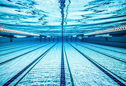 LFEEY 7x5ft Blue Swimming Pool Photography Backdrop Sports Theme Fitness  Swim Competition Exercise Photo Background Men Boys Girls Adults Photo  Studio ...