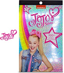 Jojo Siwa 4 Sheet Foil Cover Sticker Pad, Decorative, Collectible 200+ Stickers for Scrapbooking, Party Favors, Goodie Bags, Wall Decor for Toddlers, Kids, Children, Girls Toys Games Arts & Crafts