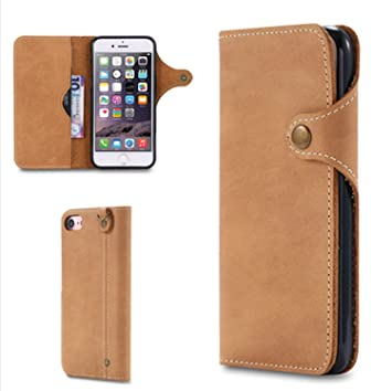 9738415d73 iPhone6 plus/6s plus ケース 手帳型 高級牛革ケース カード収納 ポケット付き ボタン