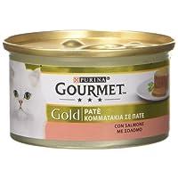 Gourmet Gold Paté per il Gatto, con Salmone, 85 g - Confezione da 24 Pezzi
