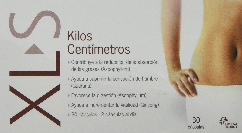 XLS Kilos centímetros Pack DUPLO 2 x 30 cápsulas. Perder peso. Adelgazar. Captagrasas y reductor del apetito. Contiene Guaraná y Ginseng: Amazon.es: Salud y ...
