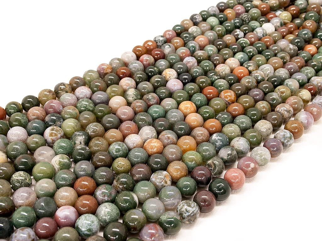 Beads Ok, Abalorios Cuentas Piedra Semipreciosa Ágata India Naturales Esferas Bola Redonda 4mm Cerca de 38cm un Tira, Vendido por Tira. 4mm Round Natural Indian Agate Gemstone Beads