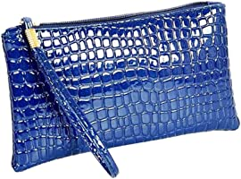 CocoMarket Women's Fashion Crocodile Leather Clutch Zipper Handbag Bag Coin Purse