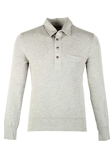 CL - TOM Ford Gray Long Sleeve Polo Sweater Size 48 / 38R U.S. In ...