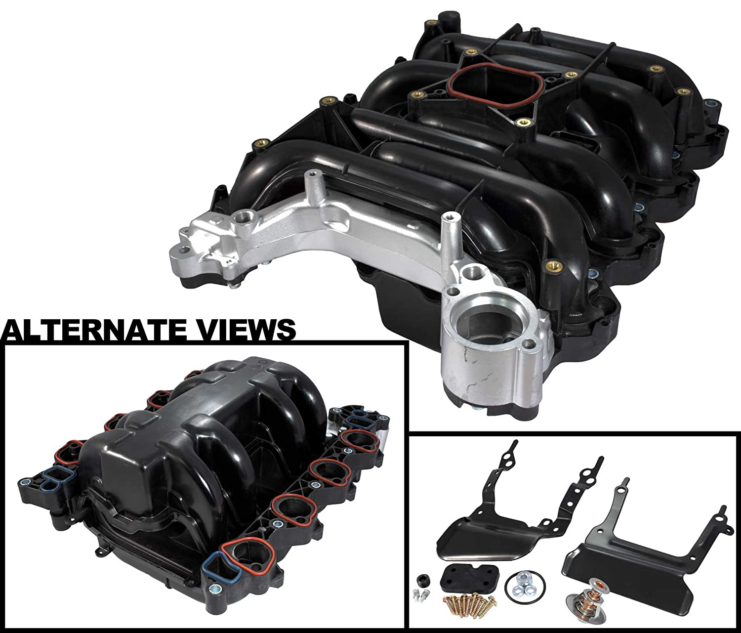 Amazon com apdty 726289 intake manifold assembly w gaskets upgraded heavy duty aluminum coolant crossover fits 96 1997 mercury cougar 4 6l 1996 2000