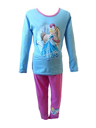 Girls pink cotton Disney princess pyjamas in age 2 3 4 5 and 6 years