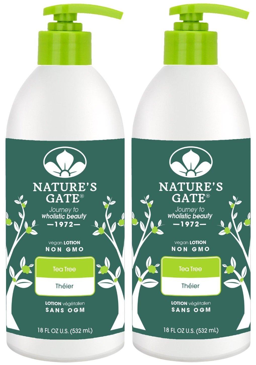 Nature's Gate Tea Tree Calming Body Lotion - 18 oz - 2 pk