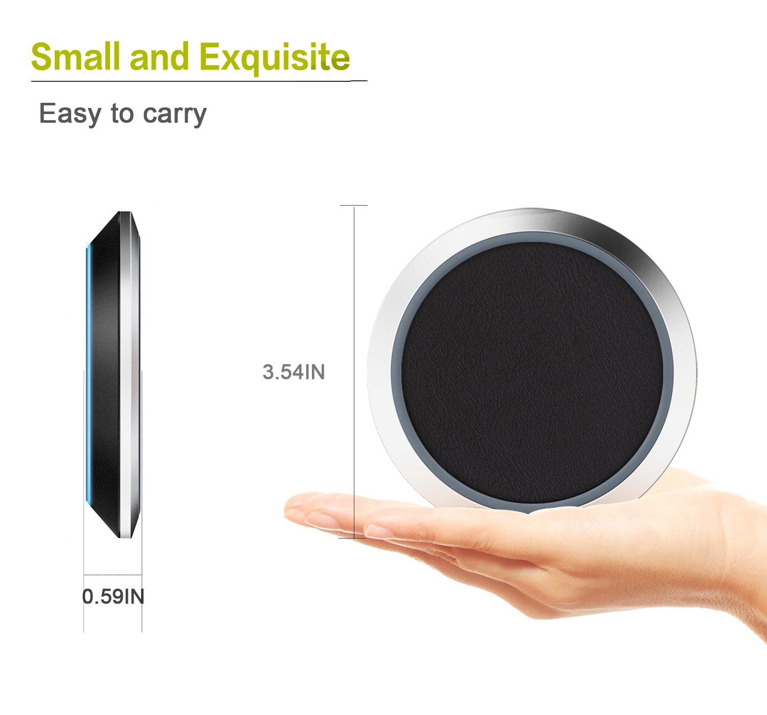Us Area Phone Code 718%0A Amazon com  Fast Wireless Charging Pad  Kcpella Portable Qi Certified Fast  Wireless Cell Phone Charger   W for iPhone     Plus X  Samsung Galaxy S  S     S