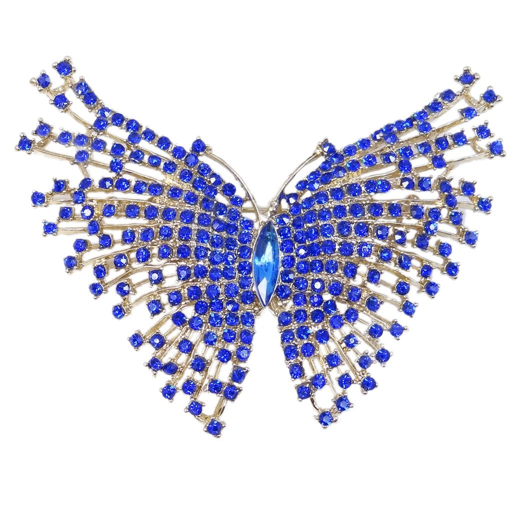 TENYE Women's Austrian Crystal Party Elegant Butterfly Insect Animal Brooch DDsP7P8xW