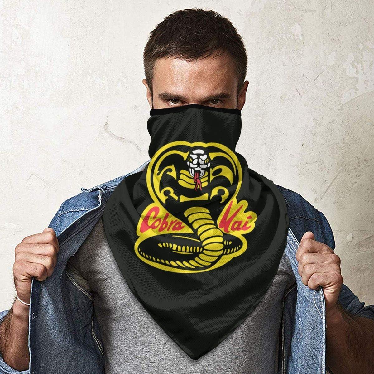 BXYJSHIYI Cobra Kai Winddichter Mundschutz Halstuch Schutz des Gesichts Face Cover Balaclava