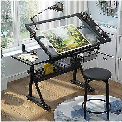 Table A Dessin Inclinable Bureau Reglable En Hauteur For Les Architectes Ingenierie Bureau Beaux Arts Cours De Travail Peinture Color B Amazon Fr Fournitures De Bureau