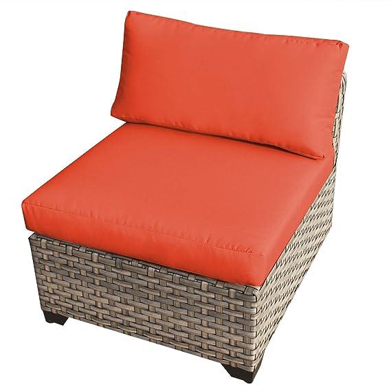 Amazon.com: TKC Monterey sin reposabrazos silla de jardín en ...