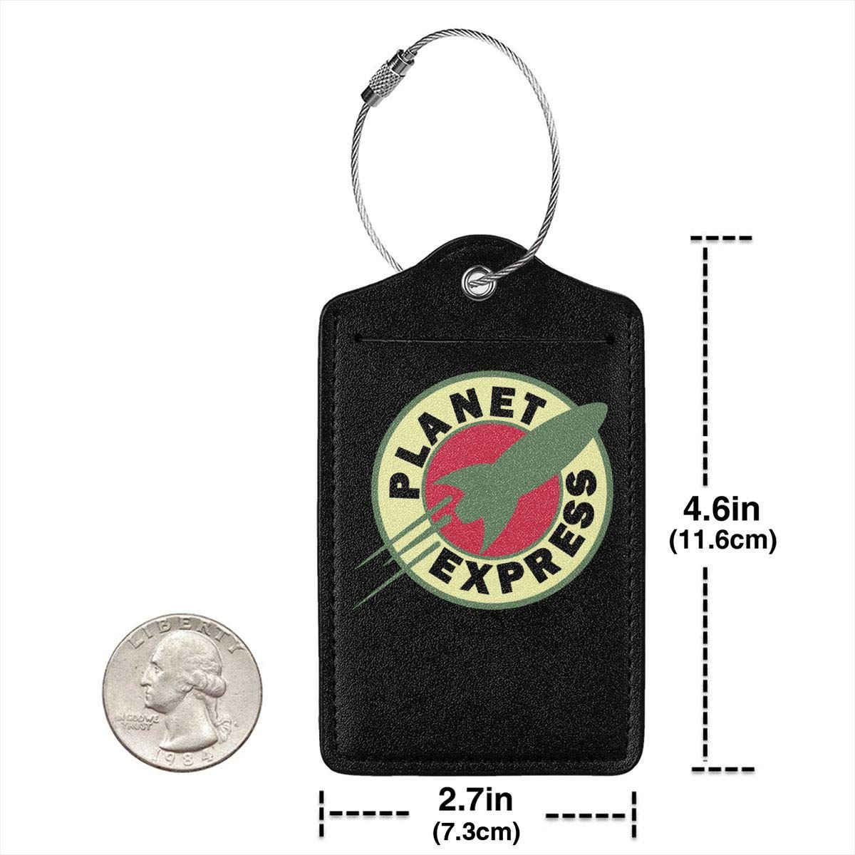 Planet Express Leather Luggage Tag Travel ID Label For Baggage Suitcase