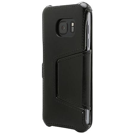 Ultratec aufklappbare Schutzhülle für Samsung Galaxy S7 aus Kunstleder mit Standfunktion, Schwarz