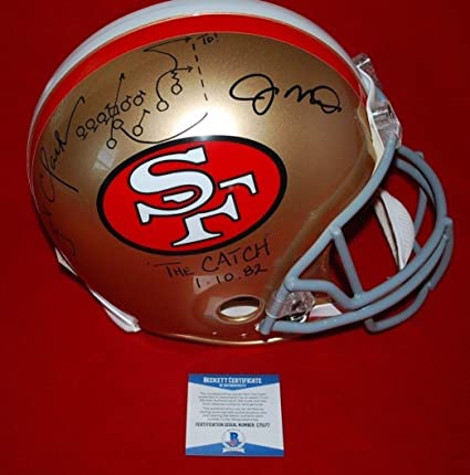 69ce2a955 Image Unavailable. Image not available for. Color  JOE MONTANA DWIGHT CLARK  49ers signed full size authentic helmet beckett COA ...