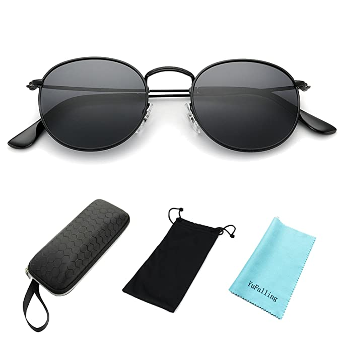 56b3aee74c1 Amazon.com  YuFalling Polarized Sunglasses for Men and Women ...