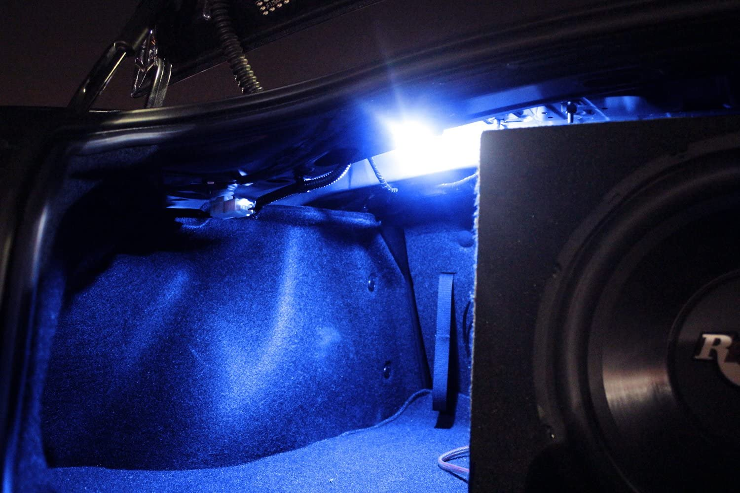 iJDMTOY 18-SMD-5050 LED Strip Light Compatible With Car Trunk Cargo Area or Interior Illumination Ice Blue 1