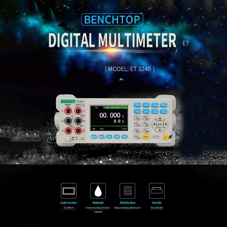 ET3240 Multim/ètre num/érique de paillasse automatique 22000 comptes avec 3,5 pouces TFT grand /écran clair Multim/ètre de bureau haute pr/écision