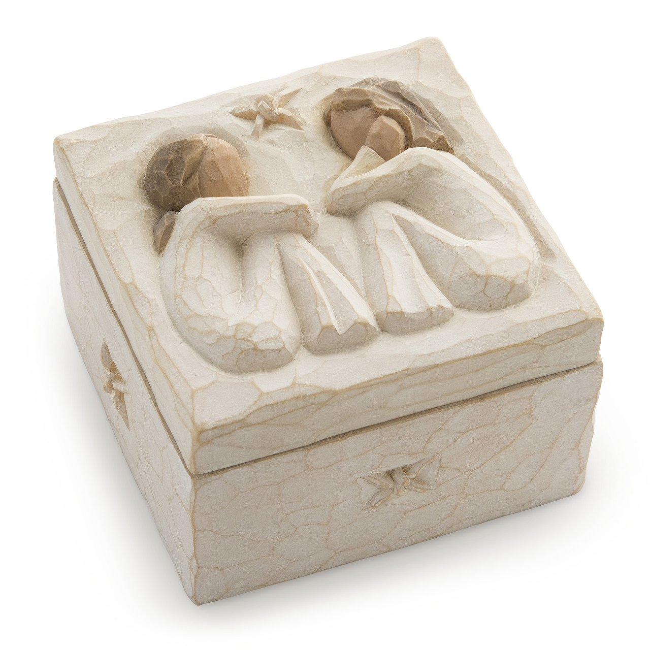 Willow Tree Friendship, sculpted hand-painted keepsake box by Willow Tree