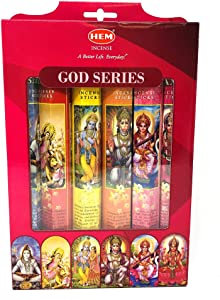 Hem Indian God Series Incense Sticks Variety Combo #1 6 x 20 = 120 Total