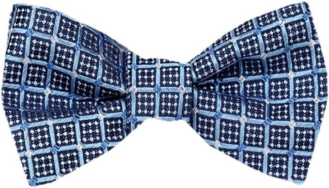 Mens Blue and Navy Silk Self Tie Bowtie Tie Yourself Bow Ties