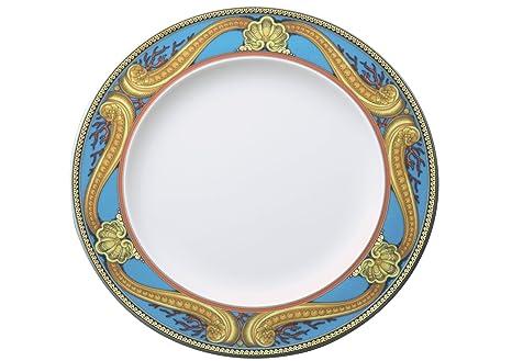 Versace Les Trésors De La Mer Plato Llano, Porcelana, Azul, 28x28x2.5