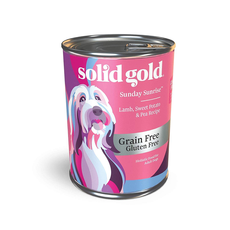 Solid Gold – Sunday Sunrise – Grain-Free Natural Lamb, Sweet Potato and Pea – Iron Rich – Holistic Adult Dog Food