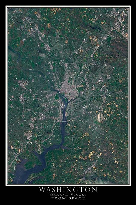 Amazon.com: Washington DC From Space Satellite Poster Map L ... on coordinates of washington dc, air view of washington dc, geoeye washington dc, aerial view of washington dc, city of washington dc, ikonos washington dc, google earth washington dc, satellite maps of my house, latitude of washington dc, layout of washington dc, peninsula washington dc, relative location of washington dc, home of washington dc, absolute location of washington dc, virtual tour of washington dc, overhead view of washington dc, google maps washington dc, aerial map of dc, hotels of washington dc, elevation of washington dc,