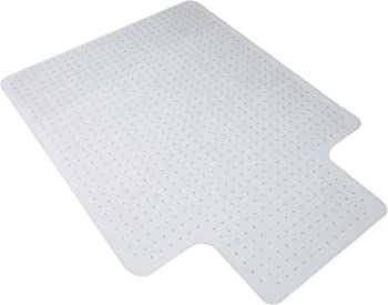 """OFM Essentials Collection 36"""" x 48"""" Chair Mat with Lip for Carpet"""