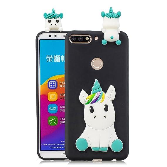 Amazon.com: Huawei Honor 7c Case, DAMONDY 3D Cute Unicorn ...