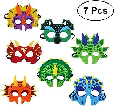 YeahiBaby Máscara de Dinosaurio | Party Decorations for Kids Themed Party Masquerade - Juego de 7: Amazon.es: Juguetes y juegos