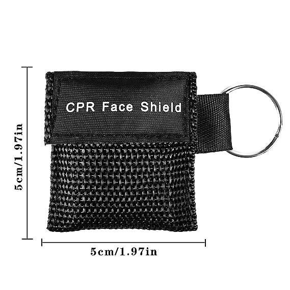Shayson Paquete de 16 Mascarilla rcp, CPR Máscara de Bolsillo máscara de Emergencia con Kit de Emergencia con válvula de una vía para Rescate de ...