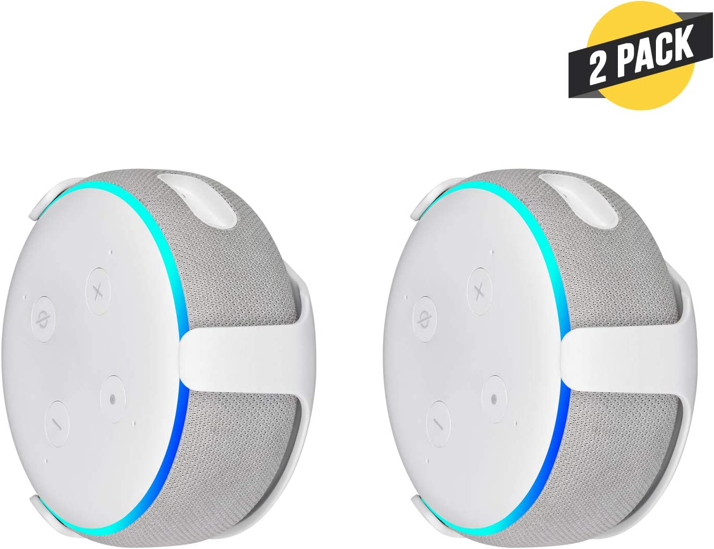 Mounting Alternative For Your Alexa Smart Speaker 3rd Gen White 1 Pack Wall Mount Compatible With Echo Dot Speaker Mounts