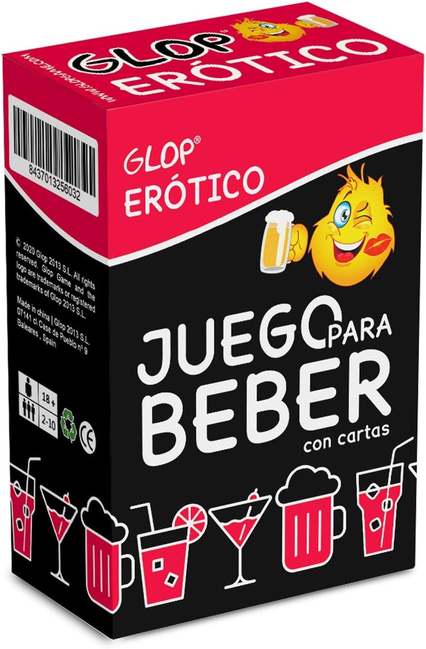Glop Erótico - Juego para Beber Picante- el Juego de Cartas más Atrevido- Juego de Mesa para Adultos - 100 Cartas