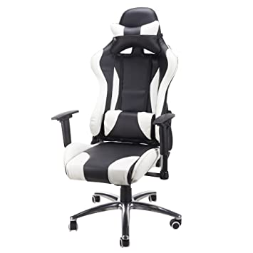 Tek Motion Adjustable Recliner High Back Silent Swivel Wheels Pc Gaming Desk Chairs