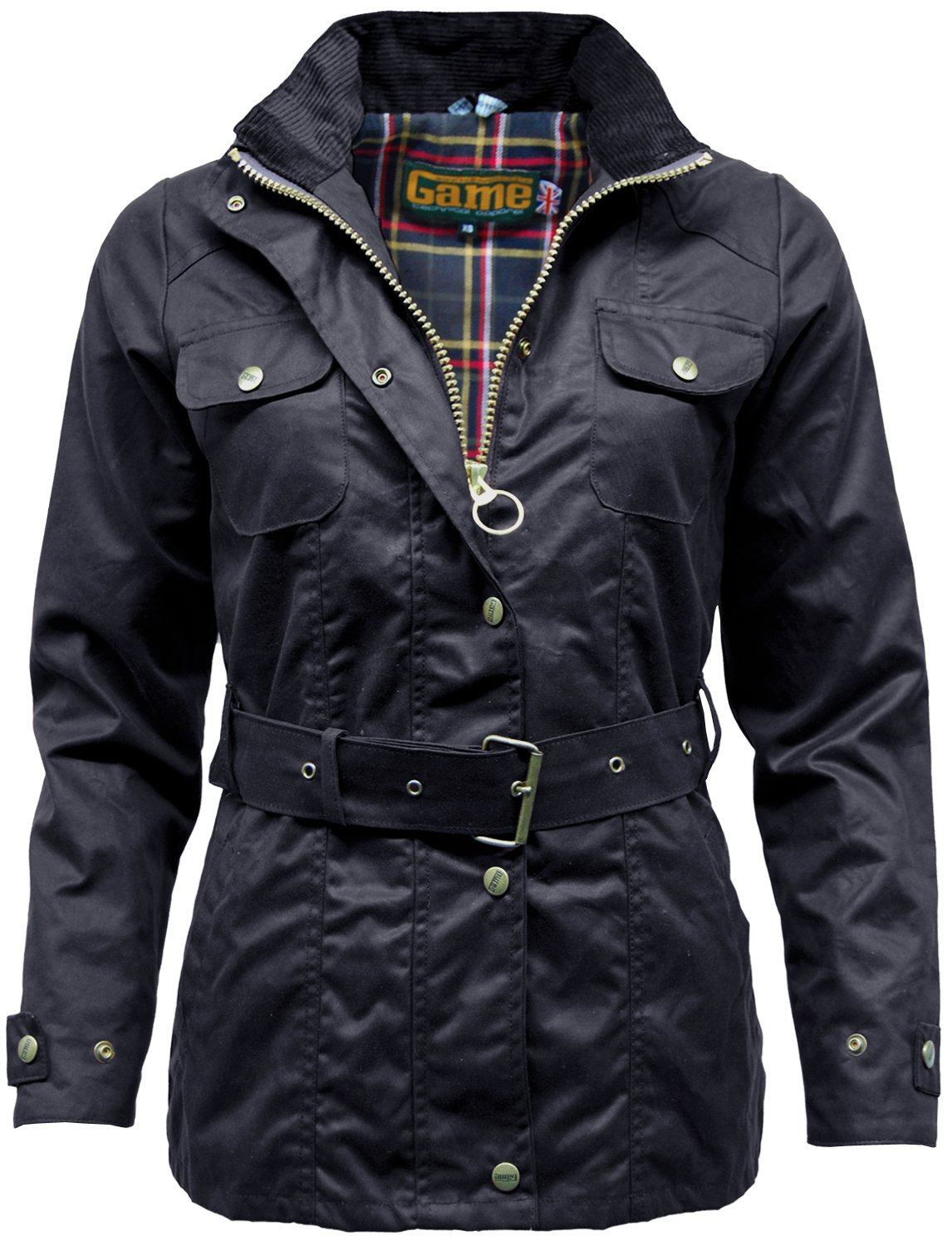 Game Womens Blaze Antique Waxed Cotton Jacket With Belt
