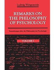 Remarks on the Philosophy of Psychology V.1 (POD): 001