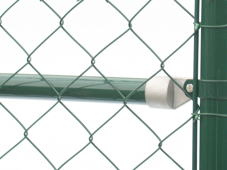 Zaun-Nagel Br/ücke zum Maschendrahtzaun gr/ün Streben zur Montage zwischen Pfosten Strebekappen und Schellen /Ø 34 mm//L/änge 175 cm inkl