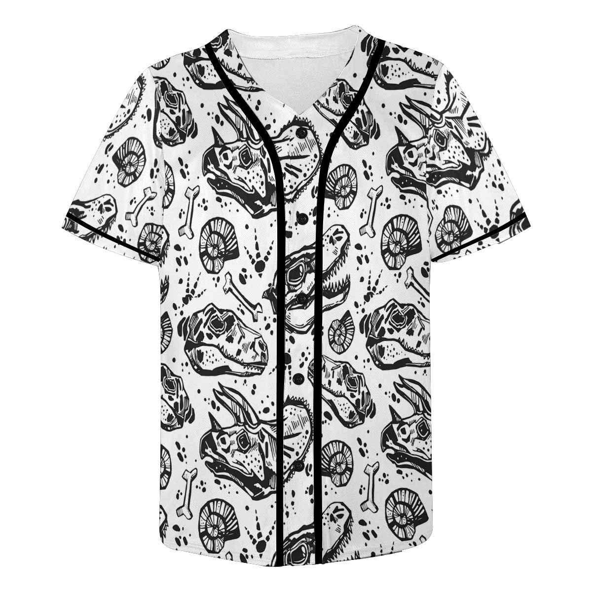 INTERESTPRINT Mens Baseball Jersey Button Down T Shirts