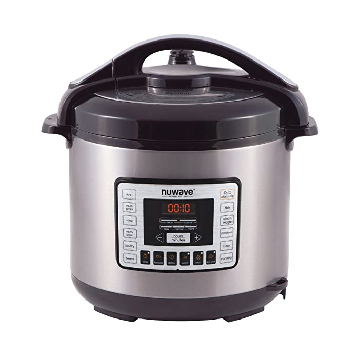 NuWave Nutri-Pot 8 Quart Digital Pressure Cooker,gray/black,8 qt.