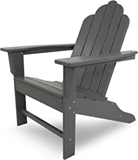 product image for POLYWOOD ECA15GY Long Island Adirondack Chair, Slate Grey