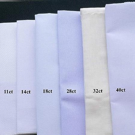 PENVEAT Tela Aida 18ct 28ct 40ct Punto de Cruz Tela Lienzo pequeña Rejilla Color Blanco artesanía Suministros Costura Bordado artesanía, 18ct, 30 * 40cm: Amazon.es: Hogar